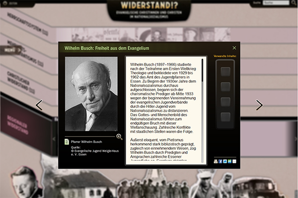 """Das Beispiel des Wilhelm Busch aus Essen ist im rheinischen Teil der Online-Ausstellung """"Evangelischer Widerstand"""" nachzulesen. Foto: www.ekir.de"""