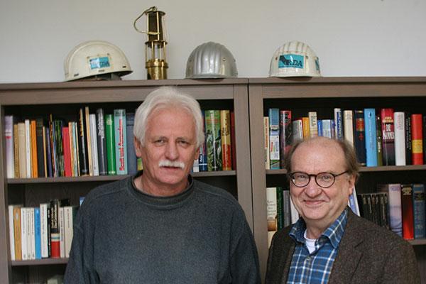 Pfarrer Jürgen Widera (links) und Pfarrer Hans-Peter Lauer; Foto: Ev. Kirchenkreis Duisburg, Merkelt-Rahm