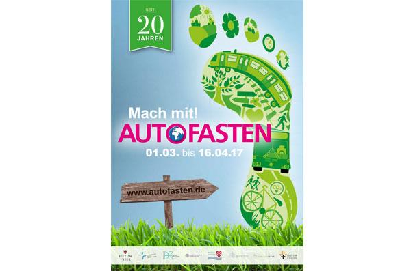 Das Plakat zur diesjährigen Aktion, Quelle: www.autofasten.de
