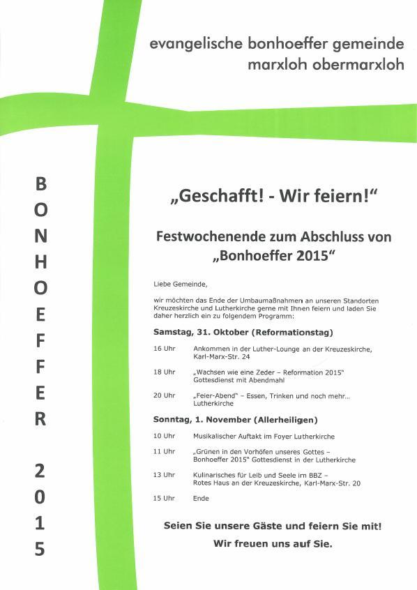 FestwochenendeBonhoeffer2015