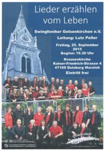 Gelsenkirchener Swingfoniker Konzert 2015-09-25