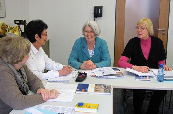 In einems Sprachkurs des EBW; Foto: www.ebw-duisburg.de